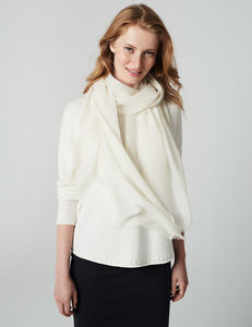 Featherweight Cashmere Wrap - keeping cosy