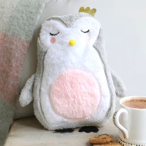 'Over The Moon' Penguin Hot Water Bottle - hot water bottles & covers