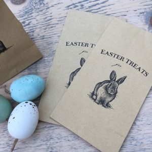 Set Of Six 'Easter Treats' Paper Bags