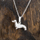 Dachshund Necklace In Sterling Silver