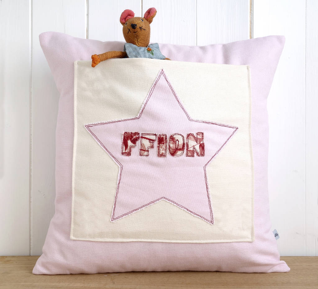 Personalised Star Pocket Cushion