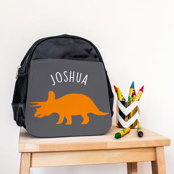 Personalised Triceratops Dinosaur Backpack
