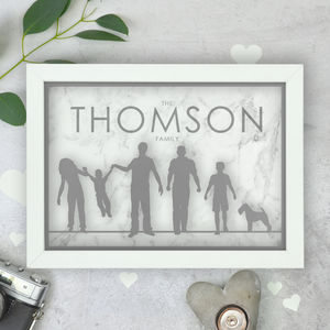 Personalised Family Silhouette Papercut And Print - new in prints & art
