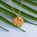 18k Gold Vermeil Or Silver Personalised Rose Necklace
