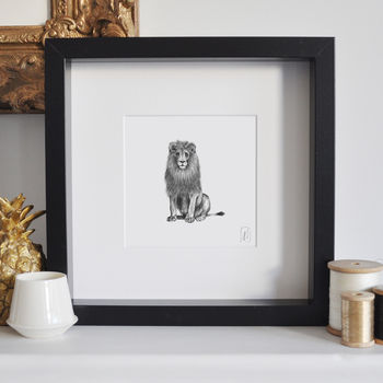 Framed Lion Print