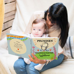 Personalised 'Promises To You' Book For Grandchild - christening gifts