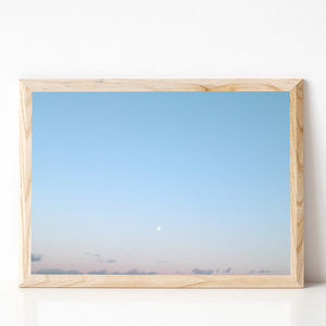 Silver Moon Photographic Sky Print