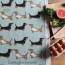 Dachshund Sausage Dogs Tea Towel