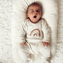 Rainbow Organic Cotton Baby Sleepsuit