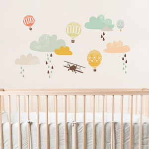 Up Up Away Fabric Wall Decal