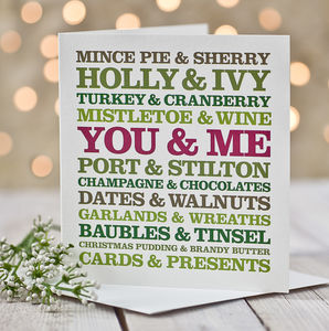 You And Me Christmas Card