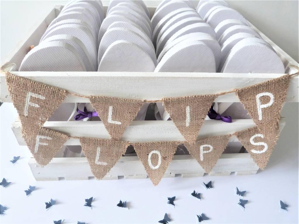 personalised crate wedding/party flip flops by little treasures ...