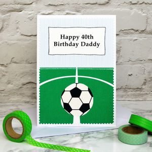 'Football' Personalised Birthday Card