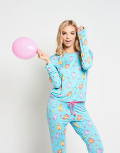 Birthday Cat Long Pyjama Set - women's fashion