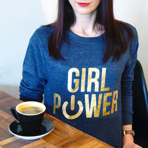 'Girl Power' Ladies Sweatshirt - women's fashion