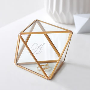 Personalised Glass Diamond Jewellery Box - new gifts for her