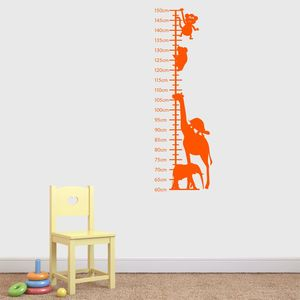 Animals Childrens Height Chart Wall Sticker - height charts