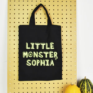 Personalised 'Little Monster' Mini Tote Bag