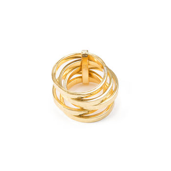 5 Stack Ring Gold Vermeil