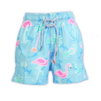 Kid's Flamingo Swim Shorts