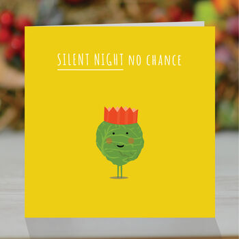 'Silent Night, No Chance', Funny Christmas Card