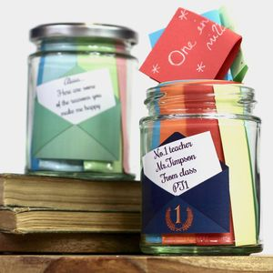 Personalised Message Jar Set - keepsake boxes