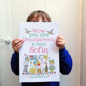 Big Personalised New Grandparents Card - shop by category