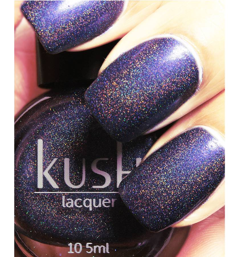 velvet overground holo vegan friendly nail polish by kush lacquer ...