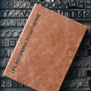 Personalised Notebook Leather
