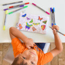 Colour In Butterfly Pencil Case
