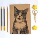 A5 Cat Lovers Notebook Blank Journal With Plain Pages