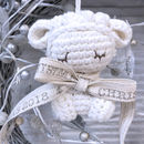 Personalised Tiny Lamb Soft Toy Hanging Decoration