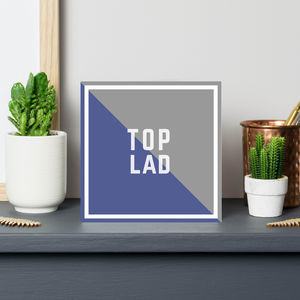 'Top Lad' Father's Day Card - all purpose cards