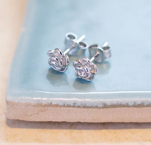 Rose Stud Earrings - earrings
