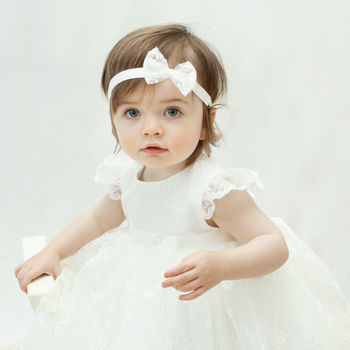 Ava Personalised Lace Christening Gown