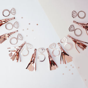 Rose Gold Hen Party Tassel Ring Garland Bunting