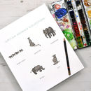 African Animals Safari Writing Paper Gift Set