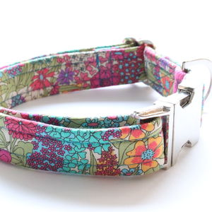 Lilly Liberty Fabric Dog Collar