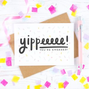 Yippee Engagement Card - shop by category