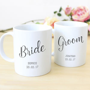 Newlyweds Personalised Mug Set