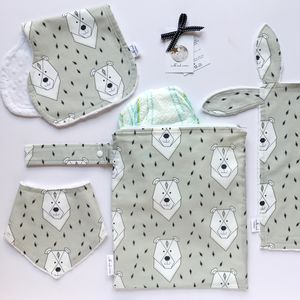 New Baby Geo Bear Gift Set - gift sets