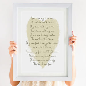 True Love Poem Print