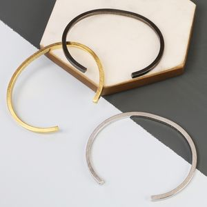 Men's Brushed Bar Bangle - bracelets