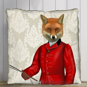 Fox Hunter Decorative Cushion