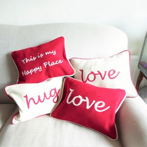 Embroidered Slogan Cushions