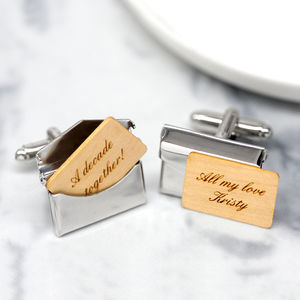 Personalised Envelope Cufflinks - anniversary gifts