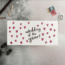 Wedding Of The Year Letterpress Money Card
