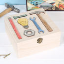 Personalised Square Storage Box For Fathers Day