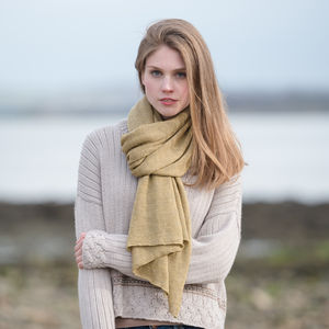Alpaca Travel Shawl/Wrap - cosy knits and cashmere