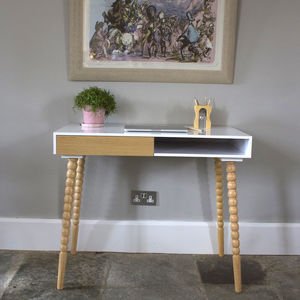 Scandinavian Desk With Stacked Ball Legs - what's new